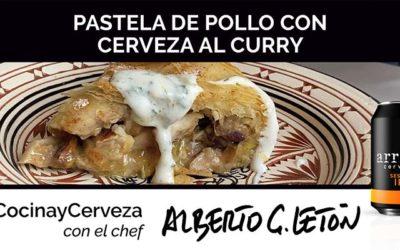 Receta de pastela de pollo con cerveza al curry