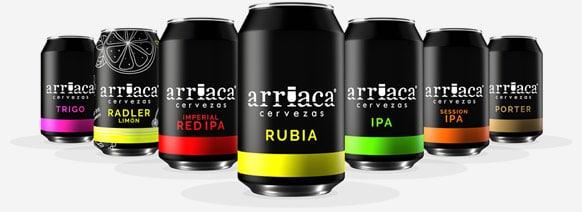latas de cerveza artesana arriaca