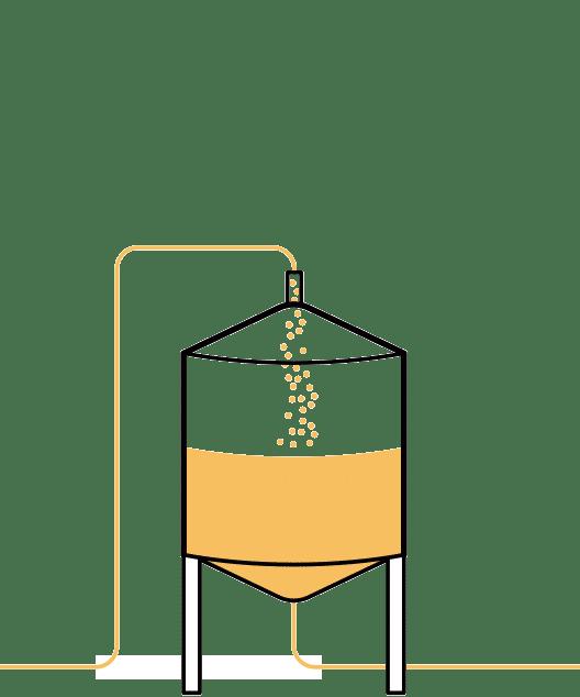 Segundo paso en la elaboración de la cerveza artesana Arriaca
