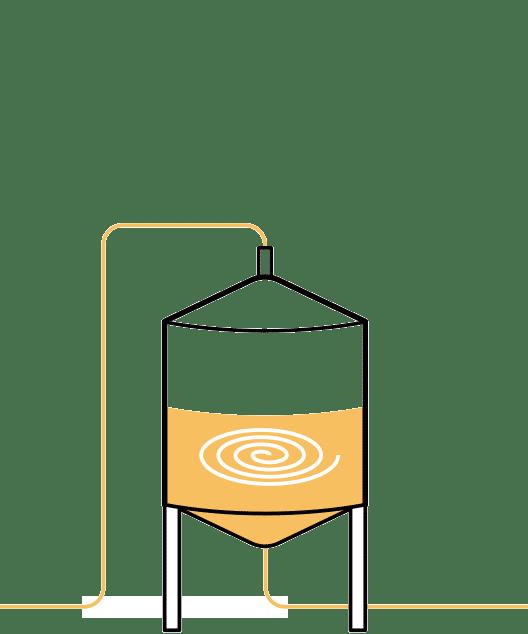Quinta paso en la elaboración de la cerveza artesana Arriaca