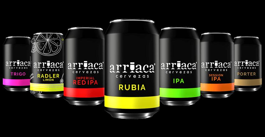 Pack degustación de latas de cerveza artesana Arriaca
