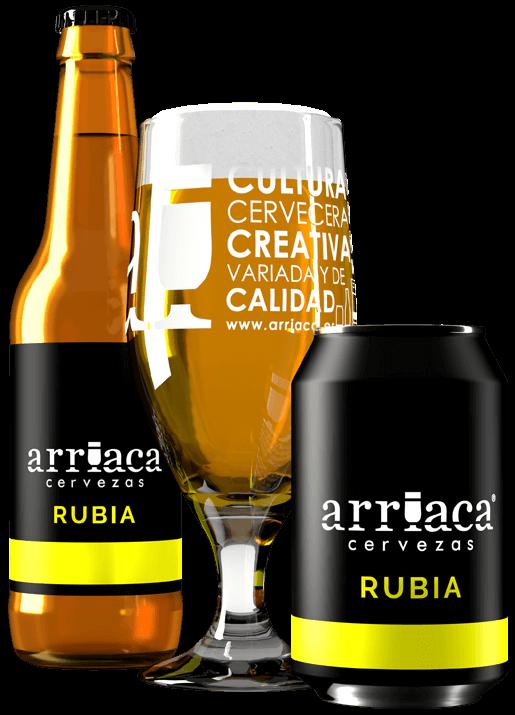 Prueba la cerveza artesana RUBIA Arriaca en barril