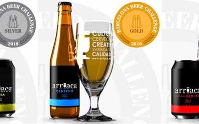 Arriaca obtiene una Medalla un Oro y dos Medallas de Plata en el certamen internacional Barcelona Beer Challenge