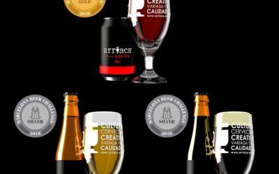 Trío de medallas para Arriaca en el Barcelona Beer Challenge 2019: un oro y dos platas