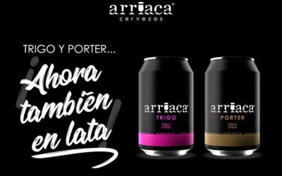 Arriaca incorpora al formato en lata sus cervezas Trigo y Porter