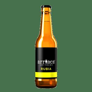 Prueba la cerveza artesana Arriaca RUBIA en botella