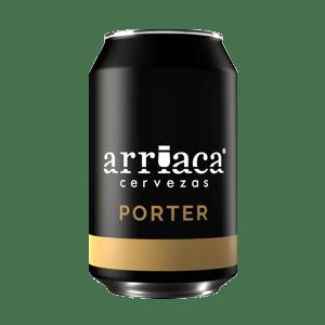 Prueba la cerveza artesana Arriaca PORTER en lata