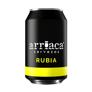 Prueba la cerveza artesana Arriaca RUBIA en lata